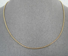 GOLD TONE SNAKE CHAIN  18""