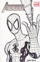 AVENGERS #1 VARIANT SPIDER-MAN SKETCH MARVIN LAW COA