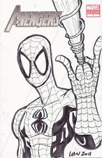 AVENGERS #1 VARIANT SPIDER-MAN SKETCH MARVIN LAW COA