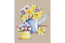 Cross Stitch Kit Yellow Flowers M-017