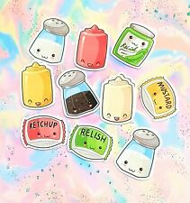 35 Pack Paper Kawaii Condiments Stickers