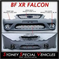 BF FALCON XR6 XR8 FRONT BUMPER BAR WITH GRILLES FOG LIGHTS SEDAN UTE XR ALL NEW