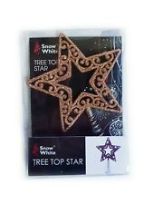 Luxury Rose Gold Sparkly Christmas Tree Decorations Filigree Star Topper Tinsel