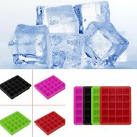 20-Cavity Large Cube Ice Pudding Jelly Maker Mold Mould Tray Silicone Tool #1
