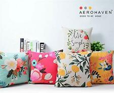 AEROHAVEN Cotton Decorative Throw Pillow/Cushion Covers Set of 5 Free Shipping