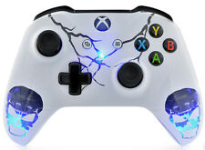 """""""Skulls White"""" Xbox One S Rapid Fire Modded Controller COD Destiny & More"""