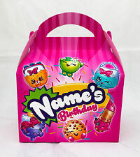 Shopkins Children's Personalised Party Boxes Favour 1ST CLASS POST