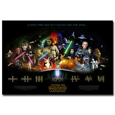 Star Wars Classic Movie Episode 1- 6 Art Silk Poster Wall Picture Print 13x20''