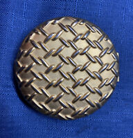 Vintage Estee Lauder Compact Gold Chain Link Pressed Powder Makeup Mirror Vanity