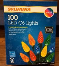 Sylvania Christmas Lights 100 LED C6 Multi Color Holiday 3 inch spacing