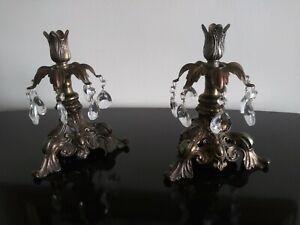 Vintage Cornell metal ornate  candle holders (Pair)