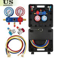 R134A HVAC A/C Refrigeration Kit AC Manifold Gauge Set Auto Serivice Kit M !!!