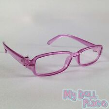 Glasses - Purple Square Eyeglasses made for 18 inch American Girl Doll Clothes