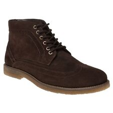 New Mens SOLE Brown Cedric Suede Boots Chukka Lace Up