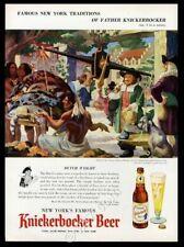 1954 Ruppert Knickerbocker Beer Indian Dutch trader art vintage print ad