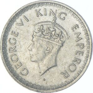 Better Date - 1944 British India 1/2 Rupee - SILVER *682