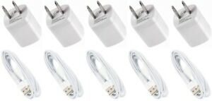 Lot Home Wall AC Charger for iPhone 11 X 8 7 6s 5FT Data Sync USB Cable Cords