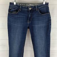Lee Modern Knit Lined Waistband Women Size 10 Stretch Blue Dark Wash Skinny Jean