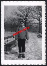 Vintage-Photo-Cute-Happy-Boy-Winter-Dress-Cap-Hat-Sweet-Junge