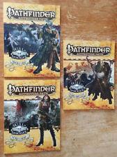 Pathfinder RPG - Lot of 3 Pathfinder Adventure Path (Ex) paperback