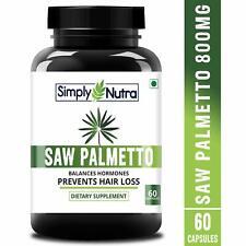 Simply Nutra Saw Palmetto Serenoa 60 Veg capsules For Hair Growth Free Ship