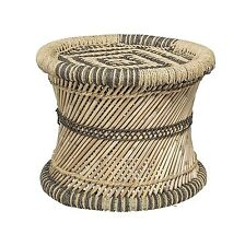 vidaXL 2x Hocker Bambus Jute Bambushocker Sitzhocker Beistelltisch Rundhocker