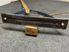 """Vintage Ames No. 450 double edged grass cutter 14"""" blade 30"""" handle  SHARP!"""