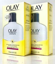 OLAY COMPLETE 2 X 4-OZ UV365 DAILY MOISTURIZER WITH SPF15 NORMAL EXP 09/21 +