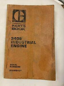 Caterpillar 3406 Industrial engine parts manual. Genuine Cat book.
