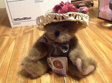 Boyds Bears Tj's Best Dressed 8� Bear Ashlyn Labearsley Straw Hat Green Bow Tag