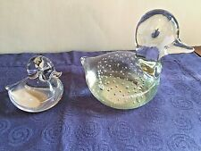 Glass Ducks: Mother and Duckling (Wedgwood)
