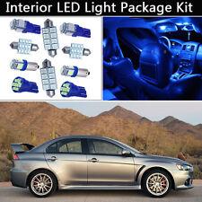 6PCS Bulbs Xenon Blue LED Interior Light Package kit Fit 2008-2015 Lancer Evo J1