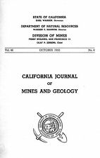 Gold mines, Madera County, Calif., detached map, coordinates, Rare 1st ed report