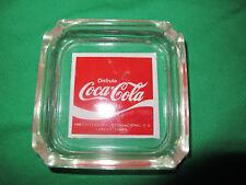 """Vge. Mexican LAREDO TAMAULIPAS Ashtray  SODA DISFRUTE COCA COLA GLASS  3.3/4 """""""