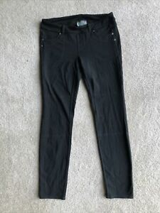 ATHLETA Bettona 818620 black stretch straight pants  pull on pants leggings M