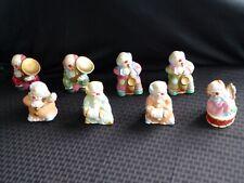 Large Lot of (8) Vtg Jasco Ceramic Musical Clown Figurine Bells, Taiwan, 4�, Vgc
