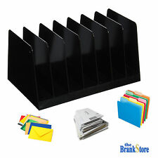 Desk File Sorter Office Document Organizer Home Letter Holder Black Desktop Rack