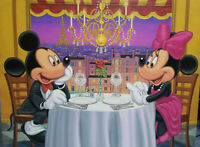 Disney Fine Art Limited Edition Canvas Dinner for Two-Mickey+Minnie- Hernandez