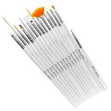 15pcs Acrylic UV Gel Nail Art Brushes Pen Detailing Painting Drawing Manicure
