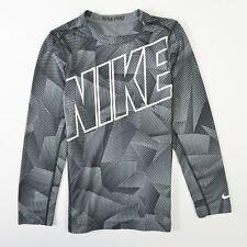 Nike Pro Warm Allover Kids Compression Shirt Dri Fit Gray Stretch XL