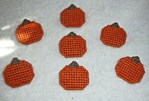 PUMPKIN PINS~Jewelry~Hand Stitched~Handcrafted~Autumn Or Fall~Finished Back~NEW