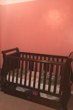 Boori Oak Sleigh Cot Bed - dark brown