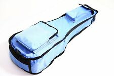 26 Pulgadas Azul Claro Bolsa De Ukelele 10mm Acolchado Estuche Impermeable De Lujo Pro tenor UK