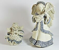 "Sarah'S Angels 8"" Mandy Plays Amazing Grace Figurine + 4"" Carolina Angel Figure"