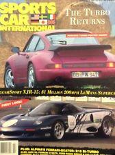 SPORTS CAR INTERNATION MAGAZINE FEBRUARY 1991, PORSCHE FERRARI ALPINA, JAGUAR