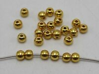 500 Golden Tone Metallic Acrylic Round Spacer Beads 6mm Smooth Ball Beads