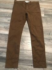 New listing Nwt's H&M LOGG Men Skinny Fit Casual Khakis Pants Size 34 x 31 Brown Tan