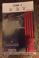 2005 US Grand Prix Ticket Stub Formula 1 One Indianapolis Motor Speedway
