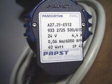 A27.25-E512 PAPST motor code: 933 2725 500 PAMOdrive