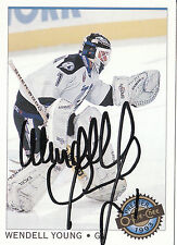 WENDELL YOUNG LIGHTNING AUTOGRAPH AUTO 92-93 O-PEE-CHEE OPC PREMIER #76 *22194